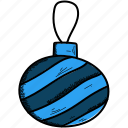 bauble, celebration, christmas icon