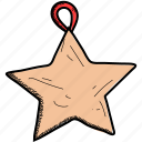 christmas, decoration, star icon