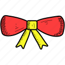 bow, celebration, christmas, decoration, ribbon icon
