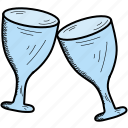 cup, drink, glass, wine icon