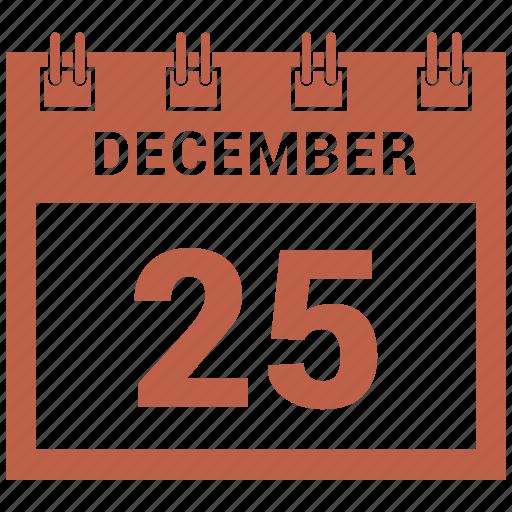 25 december, christmas, day, holdiays, xmas icon