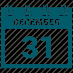 31 december, christmas, day, holdiays, xmas icon