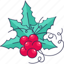 berries, décor, leaf, decoration icon