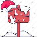 christmas sign board, banner, hat cap