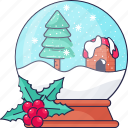 crystal, christmas, christmas tree, berries, leaf icon