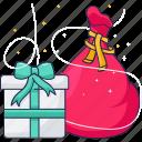 gifts, gift box, santa, present
