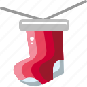 celebration, christmas, decoration, gift, party, sock icon