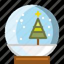 ball, christmas, globe, snow, winter, xmas icon