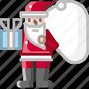 celebration, christmas, claus, party, santa, snow, xmas icon