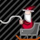 claus, gift, santa, sled, xmas icon