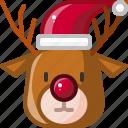and, hat, pet, reindeer, santa, winter, xmas icon