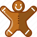biscuit, cookie, cracker, gingerbread, man, user icon
