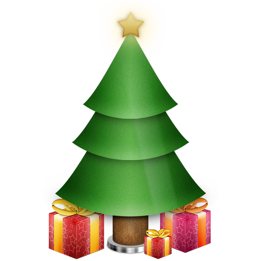 christmas, gifts, presents, star, tree icon