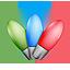 bulbs, christmas lights, leds icon