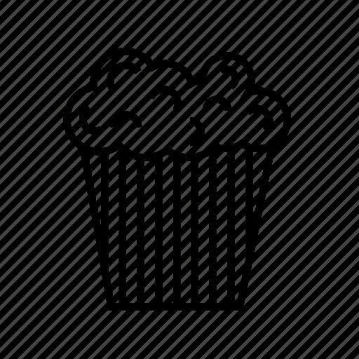 cinema, film, movie, movie chat, popcorn, popcorn cup, snacks icon