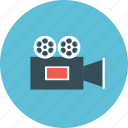 camera, cinema, entertainment, film, movie, vdo, videographer icon