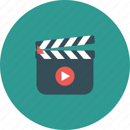 animation, cinema, clapboard, entertainment, film, movie, vdo icon