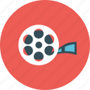 camera, cinema, entertainment, film, movie, roll, vdo icon