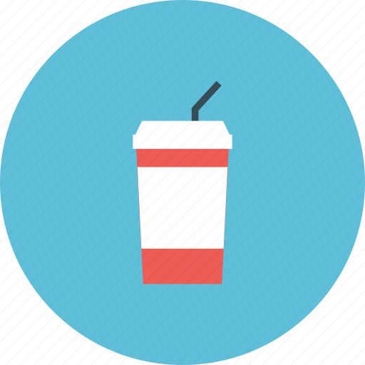 cinema, cola, drink, entertainment, film, movie, snack icon
