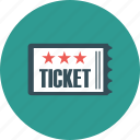 bill, cinema, entertainment, film, movie, paper, ticket icon