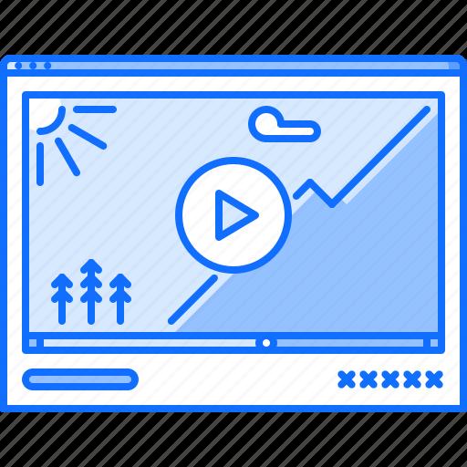 cinema, film, filming, movie, online, video icon
