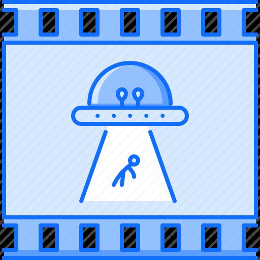 cinema, fantastic, film, filming, movie, ufo icon