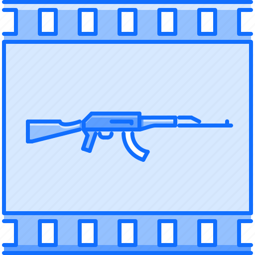 cinema, film, filming, movie, rifle, war icon