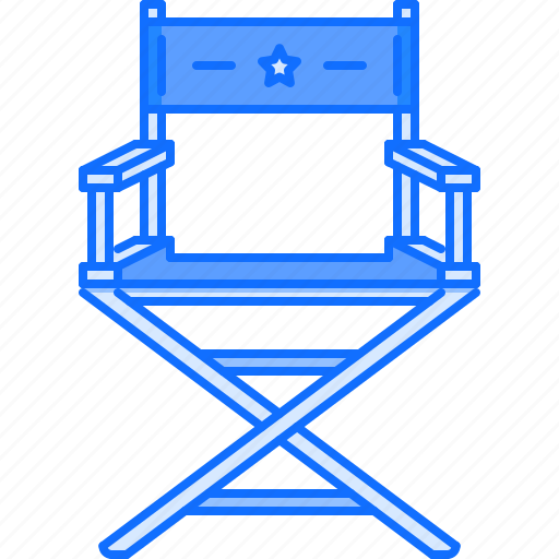 Cinema, movie, actor, filming, chair, film icon
