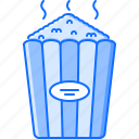 cinema, film, filming, movie, popcorn icon