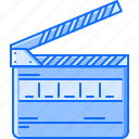 cinema, clapperboard, film, filming, movie icon