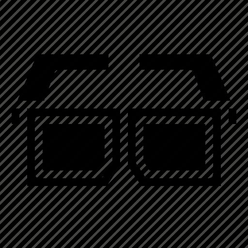 3d, cinema, glasses, movie icon