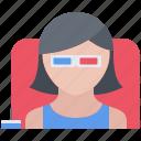 cinema, film, filming, glasses, movie, viewer