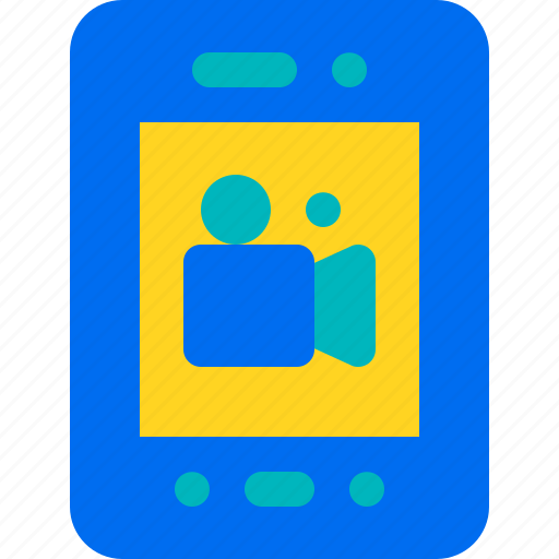 mobile, movie, phone, smartphone, streaming icon