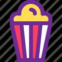 cinema, corn, food, pop, snack icon