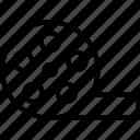 cinema, film reel, film stip, movie reel icon