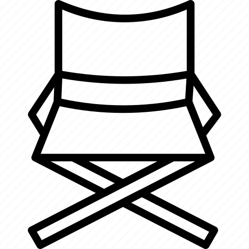 chair, cinema chair, director, folding chair icon