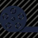 cinema, film reel, movie, multimedia icon