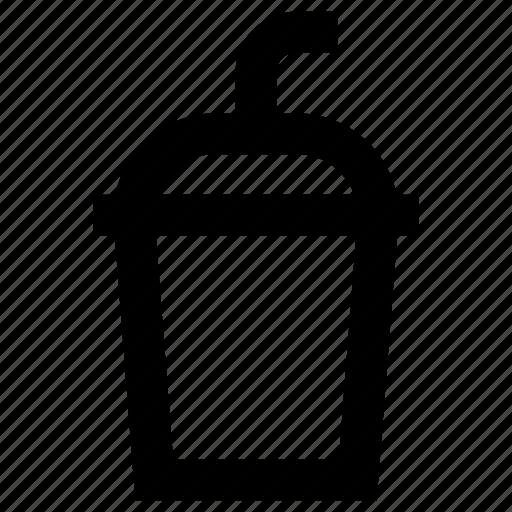 beverage, cup, drink, refreshment, soda, straw icon