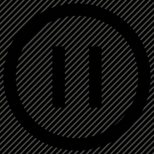 cinema, entertainment, lines, media, movie, multimedia, pause icon