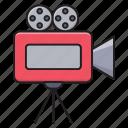 camera, shooting, cinema, movie, recording icon