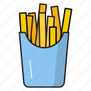snack, cinema, potatoes, movie, fries