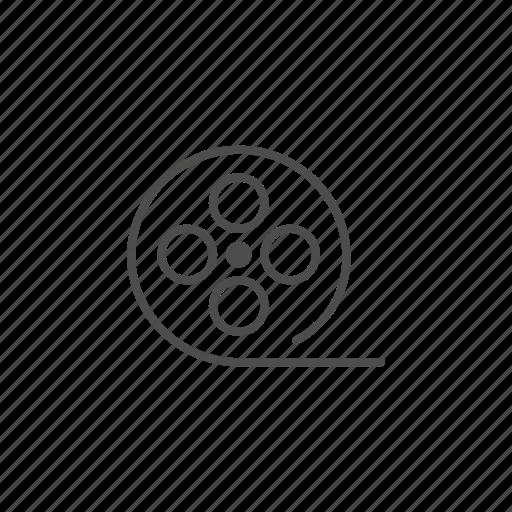 camera, cinema, film, line, roll, video icon