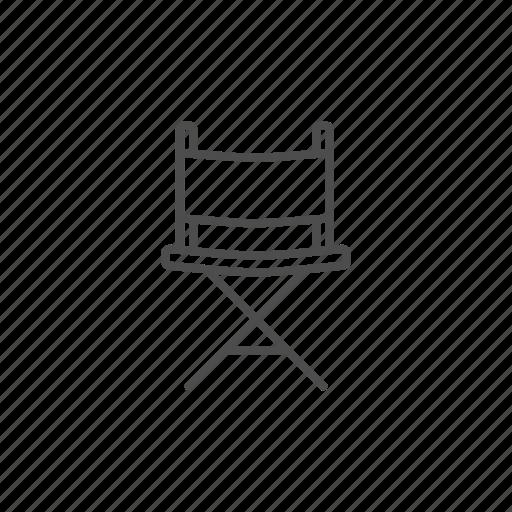 cinema, film, line, movie, video icon