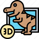 surreal, 3d, dinosaur, movie, entertainment