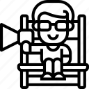 megaphone, producer, filmmaker, director, controller icon