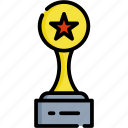 trophy, movie, video, play, entertainment, winner, award