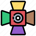 cinema, light, media, multimedia, player, spotlight, video