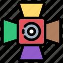 cinema, light, media, multimedia, player, spotlight, video icon