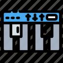 base, instrument, music, piano, piano key icon