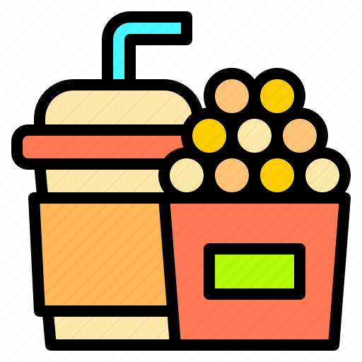 audience, cinema, fast, film, food, movie, theater icon